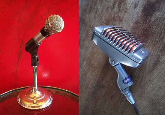 Shure Brothers PE-56 (слева) и Shure Brothers MODEL 51 Chicago (справа)